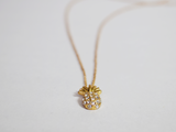 Gold Diamond Pineapple Necklace