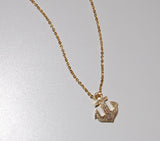 Gold Anchor Charm Necklace