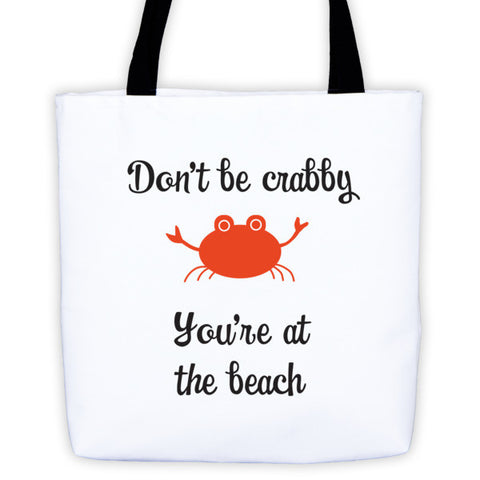 Crabby Beach Tote Bag