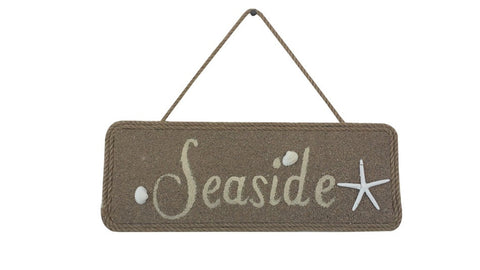 Seaside Wooden Rustic Beach Sign - 16""