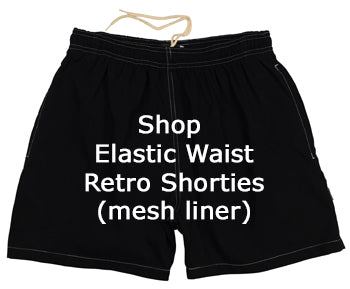Shop Retro Short Mens Swim Trunks