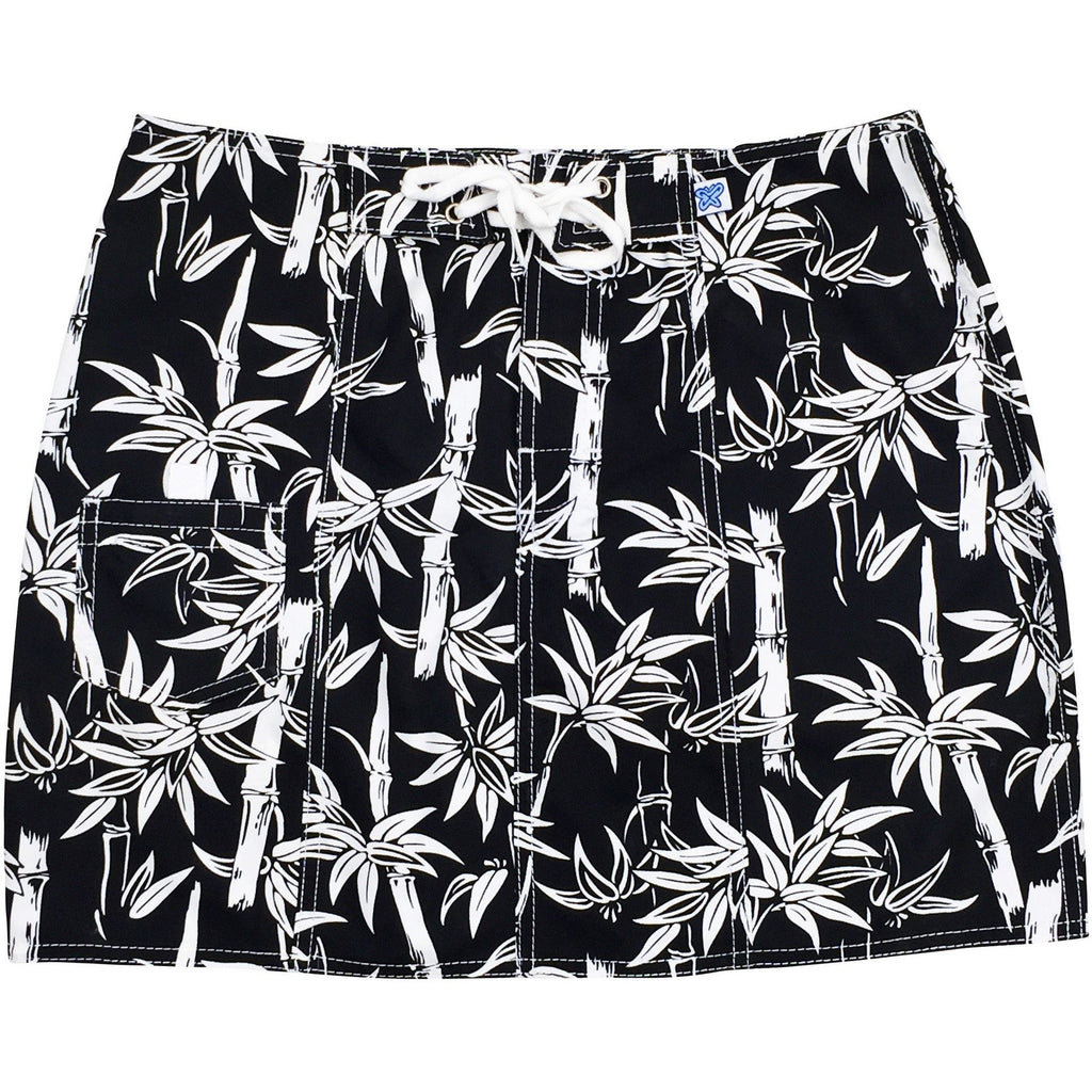"""Branch Out"" Bamboo Print Original Style Board Skirt (Black, Royal, or Dark Navy) - Board Shorts World - 1"