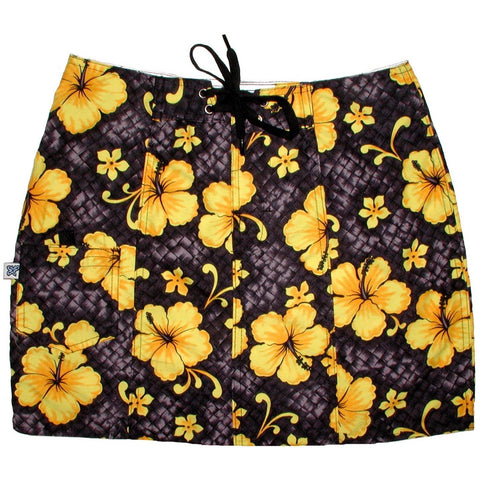 """Basketweave"" Original Style Board Skirt (Charcoal) - Board Shorts World"