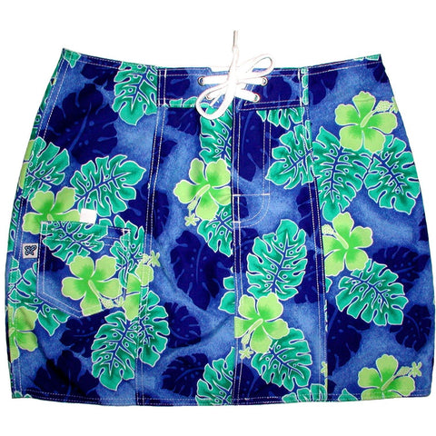 """Elm Street"" Board Skirt (Royal) - Board Shorts World"