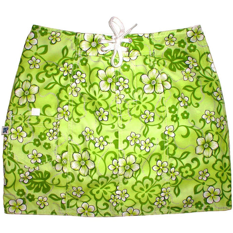 """Haywire"" Board Skirt (Key Lime) - Board Shorts World"
