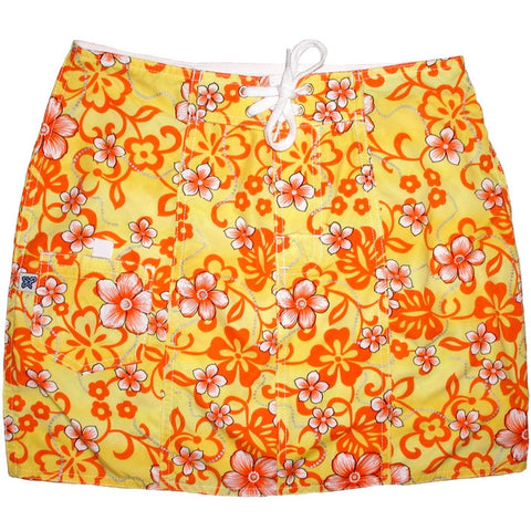 """Haywire"" Board Skirt (Tangerine) - Board Shorts World"