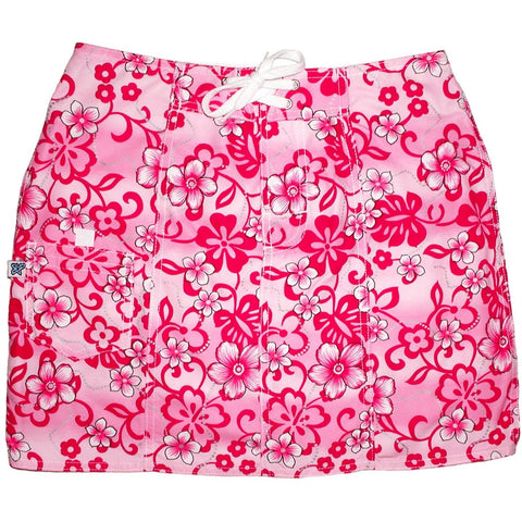 """Haywire"" Board Skirt (Pink) - Board Shorts World"