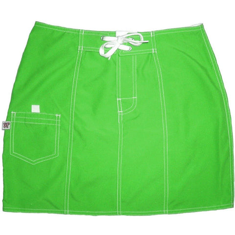 """A Solid Color"" Original Style Board Skirt  (Apple Green) - Board Shorts World"