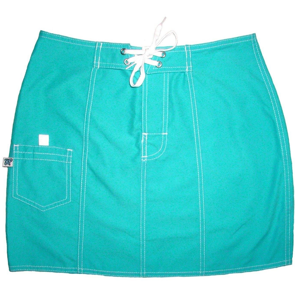"""A Solid Color"" Original Style Board Skirt  (Aqua) - Board Shorts World"