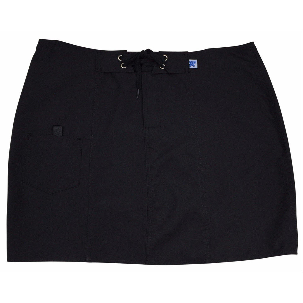 """A Solid Color"" Original Style Board Skirt  (Black+Black Stitching, Chocolate, or Charcoal) - Board Shorts World - 1"