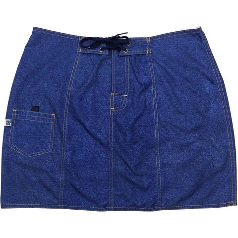 """A Solid Color"" Original Style Board Skirt  (Denim) - Board Shorts World"