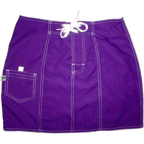 """A Solid Color"" Original Style Board Skirt   (Grape) - Board Shorts World"
