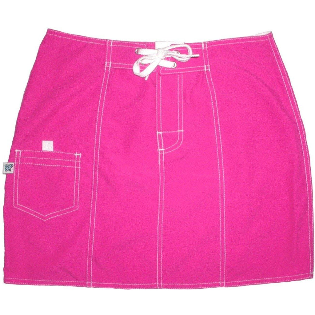 """A Solid Color"" Original Style Board Skirt  (Hot Pink) - Board Shorts World"