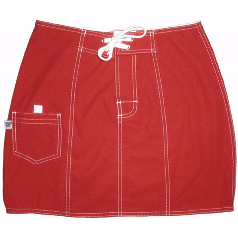 """A Solid Color"" Original Style Board Skirt  (Mesa Red) - Board Shorts World"