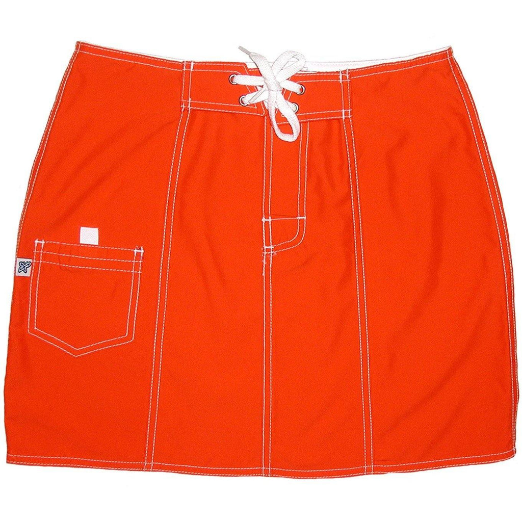 """A Solid Color"" Original Style Board Skirt  (Orange or Mango) - Board Shorts World - 1"