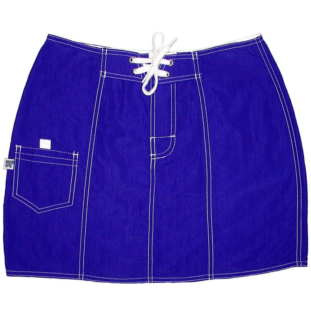 """A Solid Color"" Original Style Board Skirt (Pacific Blue) - Board Shorts World"