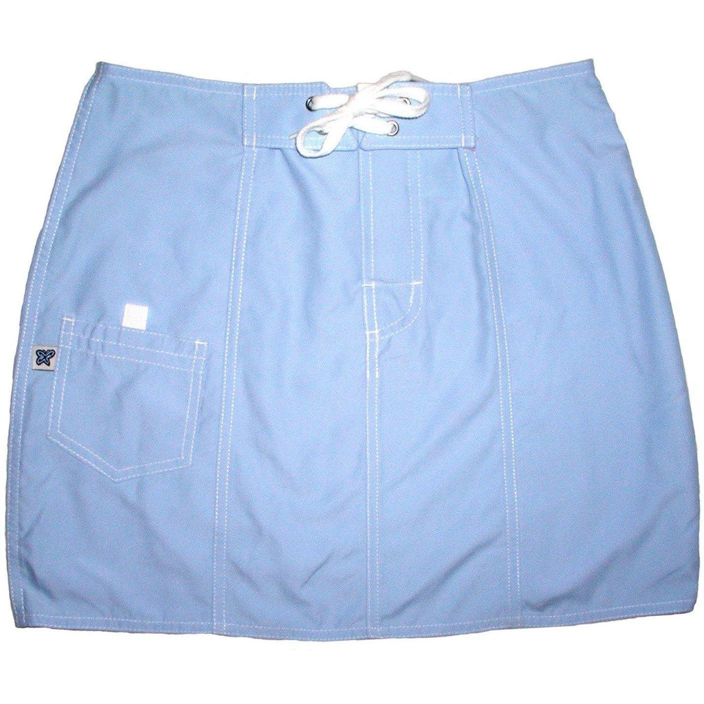 """A Solid Color"" Original Style Board Skirt   (Powder) - Board Shorts World"
