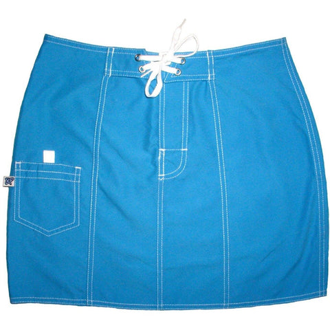 """A Solid Color"" Original Style Board Skirt   (Turquoise) - Board Shorts World"