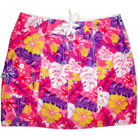 """Mother Lode"" Original Style Board Skirt (Pink) - Board Shorts World"