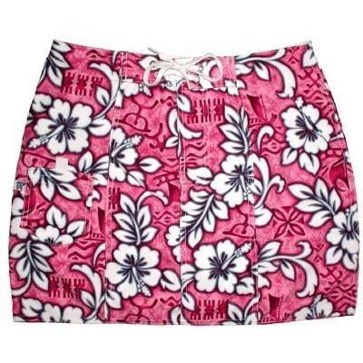 """Picture Show"" Board Skirt (Pink) - Board Shorts World"