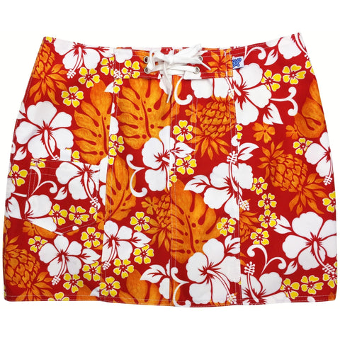 """Pina Colada"" Original Style Board Skirt (Fire) - Board Shorts World"