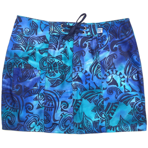 """Pacific Whim"" Original Style Board Skirt (Ink or Earth) - Board Shorts World - 1"