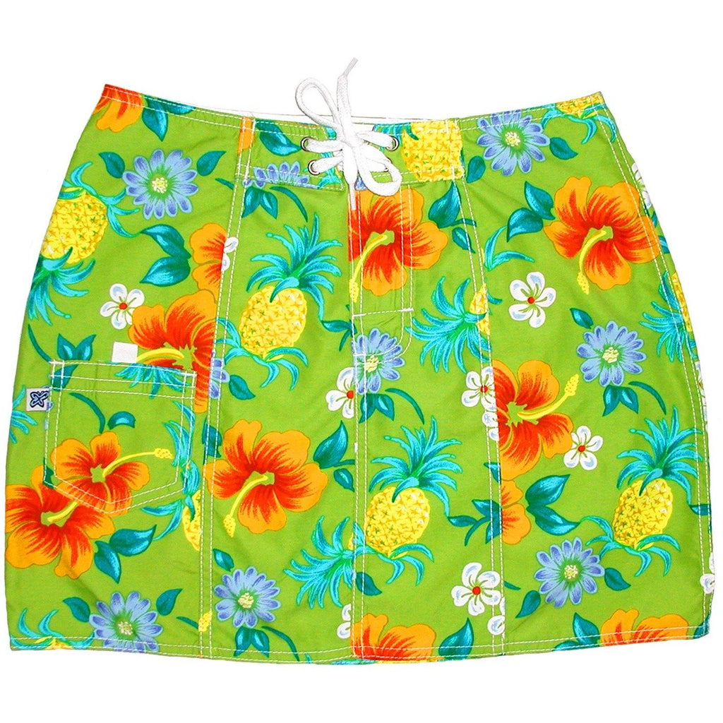 """Sangria"" Board Skirt (Lime) - Board Shorts World"