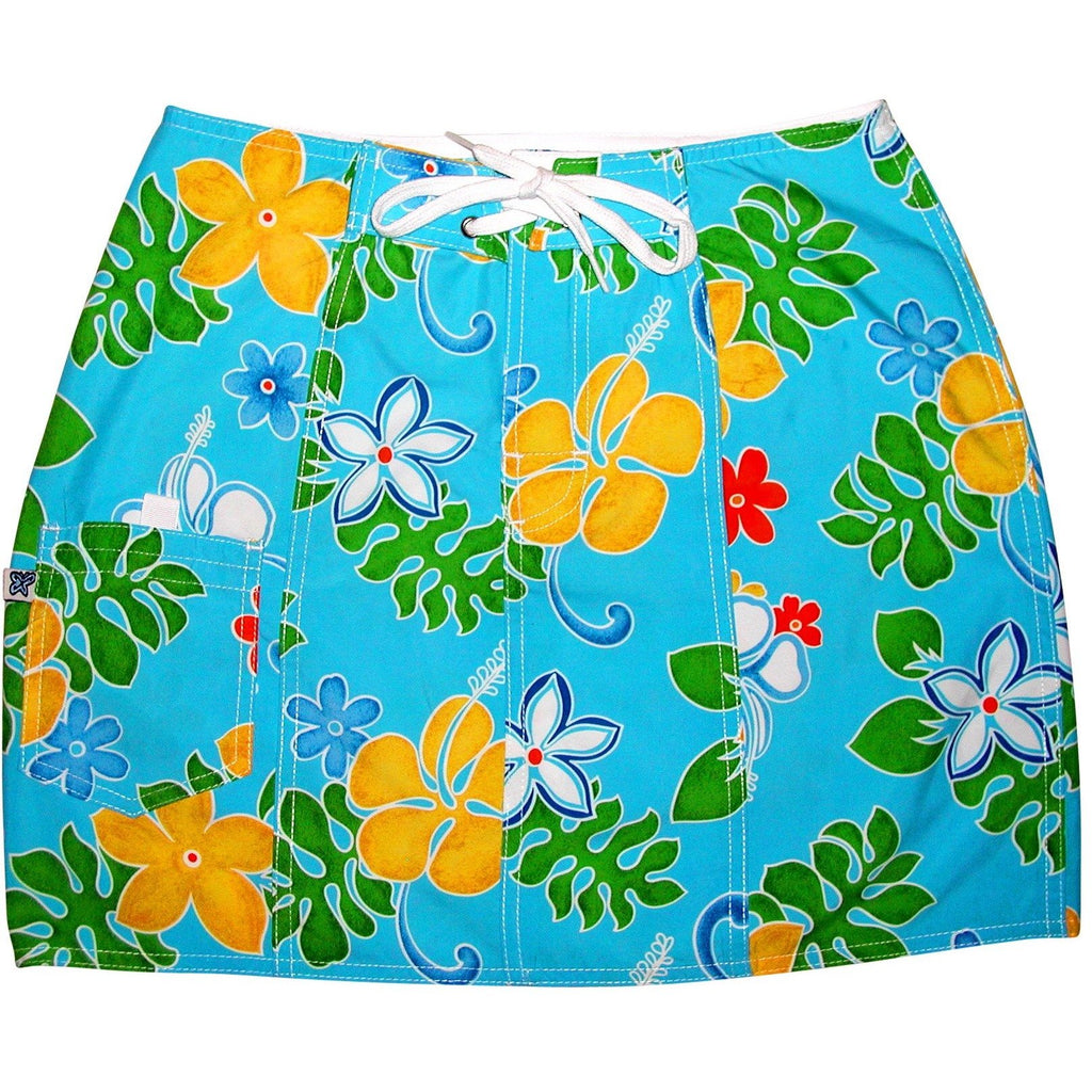 """Spring Fling"" Board Skirt (Turquoise or Red) - Board Shorts World - 1"