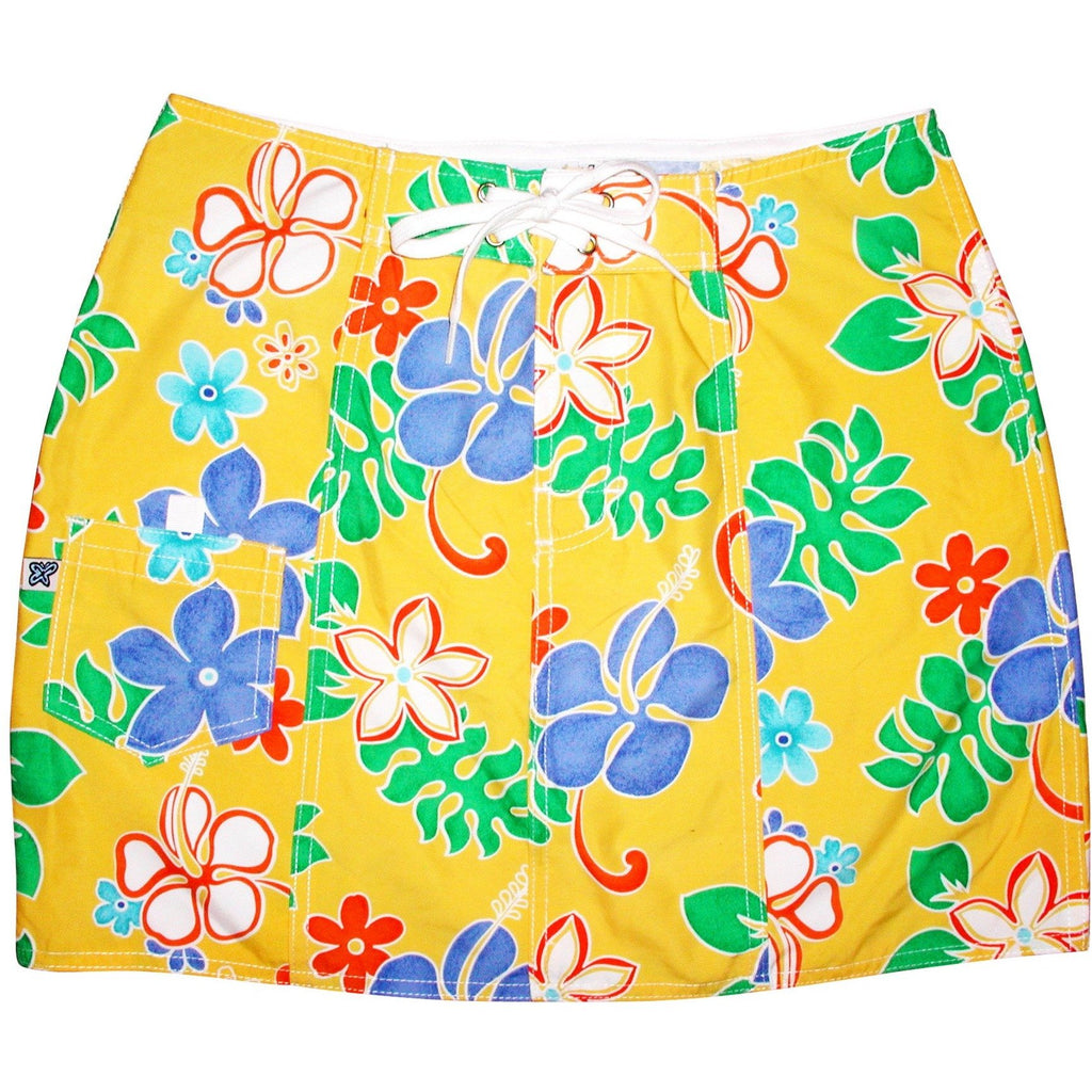 """Spring Fling"" Board Skirt (Yellow or Purple) - Board Shorts World - 1"
