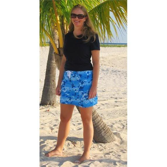 """Soul Salvation"" Original Style Board Skirt (Blue, Aqua, or Pink) - Board Shorts World - 1"