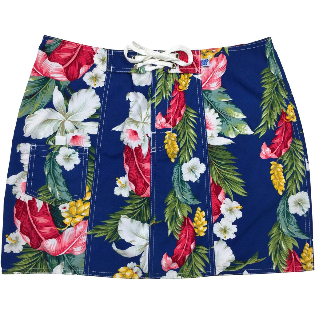 """Stranded"" Board Skirt (Blue) - Board Shorts World"