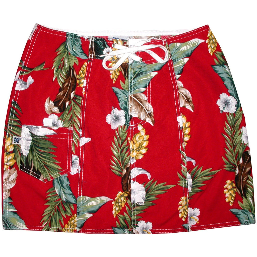"""Stranded"" Board Skirt (Red) - Board Shorts World"