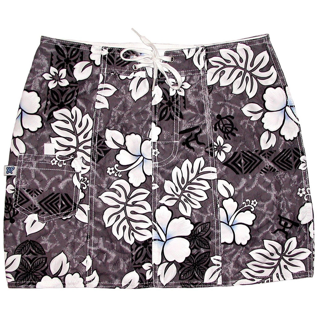 """Tribal Council"" Board Skirt (Charcoal) - Board Shorts World"