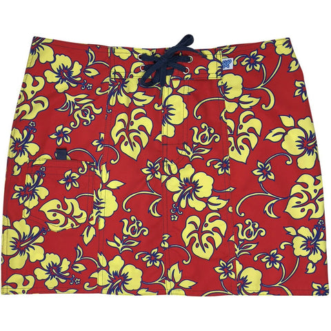"""Warming Trend"" Original Style Board Skirt (Red+Yellow, Navy+Turquoise, Red+Blue, Navy+Yellow)"