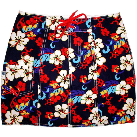 """Memory Lane"" Original Style Board Skirt (Navy) - Board Shorts World"