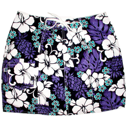 """Pina Colada"" Original Style Board Skirt (Indigo) - Board Shorts World"