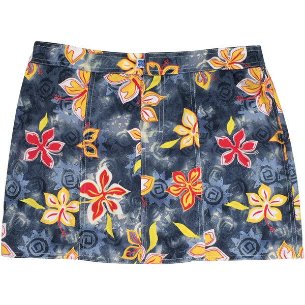 """Desert Bloom"" Hipster Board Skirt (Graphite, Charcoal+Yellow or Charcoal+Blue)"