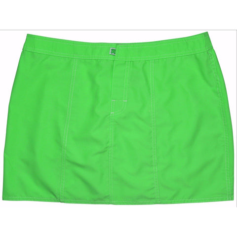 """A Solid Color"" Hipster Style Board Skirt  (Apple, Orange, Mango, or Red) - Board Shorts World - 1"