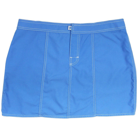 """A Solid Color"" Hipster Style Board Skirt  (Baby Blue) - Board Shorts World"