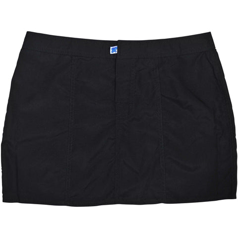 """A Solid Color"" Hipster Style Board Skirt (Black+Black Stitching, Chocolate, Navy, Dark Olive or Charcoal) - Board Shorts World - 1"