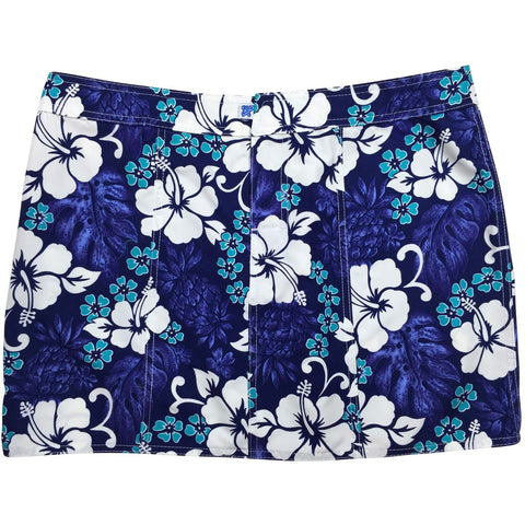 """Pina Colada"" Hipster Board Skirt (Indigo, Blue+Yellow, Fire, or Green+Yellow) - Board Shorts World - 1"