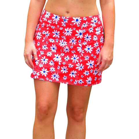 """Summer of Love"" Hipster Board Skirt (Red or Green)"