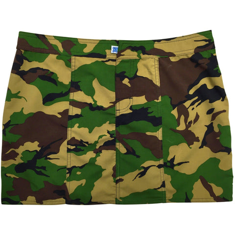 """Stealth Fanatic"" Camo Hipster Board Skirt (Traditional, Charcoal, Moss, Sand+Brown Pink, or Pink+Brown) - Board Shorts World - 1"