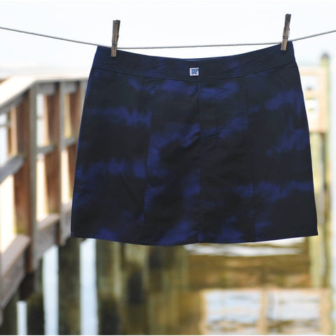 """Taken for Granite"" Hipster Board Skirt (Blue) **SALE** - Board Shorts World"