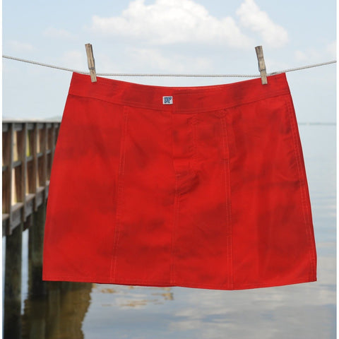"""Taken for Granite"" Hipster Board Skirt (Red) **SALE** - Board Shorts World"
