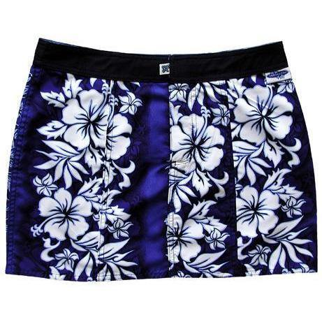 """Conga Line"" Hipster Board Skirt (Blue) - Board Shorts World"