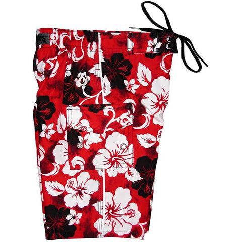 """Jungle Boogie"" Toddler Board Short (Red or Charcoal) - Board Shorts World - 1"