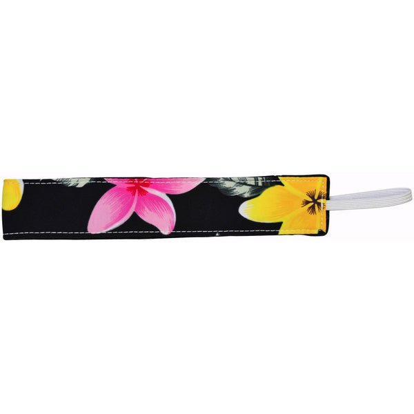 """Free Roaming"" Plumeria Print Head Band (Black, Turquoise, Red, or Pink) - Board Shorts World - 1"