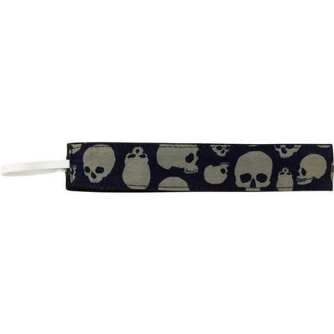 "**NEW** ""Live to Ride"" Skulls Print Head Band (Charcoal+Black)"