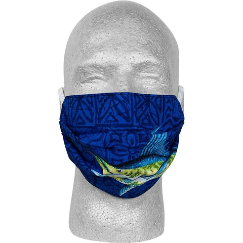 """Fighting Chair"" 100% Cotton Face Mask (Blue).  **Available in Both Styles** - Board Shorts World"